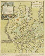 C1750 España militar mapa Prats del Rey (El Prats de Rei) Cataluña Antiguo