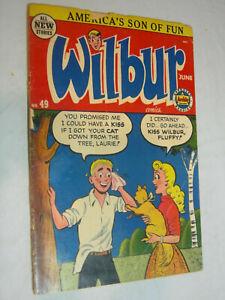 Wilbur Comics #49 PR Wilbur gets a kiss WOW