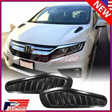 Print Carbon Fiber Fake Decorative Hood Turbo Intake Scoop Grille Air Flow Vent