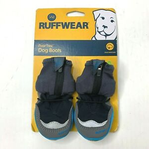 "Ruffwear Polar Trex Winter Dog Boots Pairs In Obsidian Black Sz 1.75"""