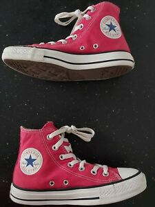 Converse All Star Hi Tops Trainers Red Size 4.5