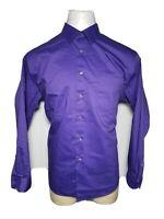 Van Heusen XL Purple Extreme Color Men's Casual Button-Front Shirt - Extra Large