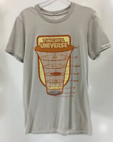 V Sauce Mens Timeline of Universe S/S T Shirt Gray/Orange/Yellow/Blue Small NEW