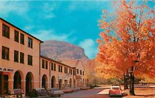 Lake Lure NC~Administration Building in Fall~Grocery~Coca Cola~1950s Car