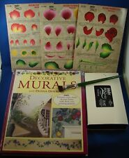 Donna Dewberry One Stroke Murals Book Teaching Guide Brush Vhs Tole Painting Lot
