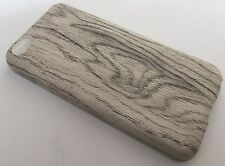 Apple Iphone 5C cover case protective hard back wood grain wooden oak white