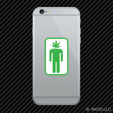 Pot Head Cell Phone Sticker Mobile Marijuana Hemp Leaf Weed