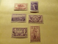 United States Scott  772 - 777 and 782 - 784, a set of 9 commemoratives MINT