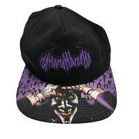 DC Comics Batman Joker Hat Ha Ha Ha Graphic Snapback Black Purple Baseball Cap