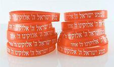 10 Bracelets ORANGE CHEMA ISRAËL – Kabbale juive hébraïque bandes caoutchouc