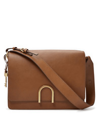 NWT FOSSIL Finley Leather Shoulder Bag, Brown, MSRP $258