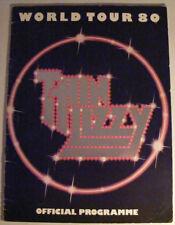 THIN LIZZY World Tour 80 Ex 1980 UK Tour Souvenir