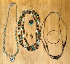Bling Colorful Great Condition Vintage Costume Jewelry Lot (6) Pieces