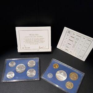 COFFRET BU - FRANCS - 1986 - 1 centime à 100 francs - RARE 10 pieces