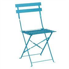 Bolero klappbare Terrassenstühle Stahl azurblau Campingstühle Balkonstühle