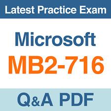 Microsoft Practice Test MB2-716 Microsoft Dynamics 365 Exam Q&A PDF