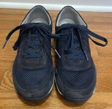 DANSKO Hayes Navy Blue Suede Sneakers Walking Shoes Sz 40 Women's