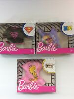 Lot 3 Barbie Powerpuff Girls Shirts Tops Clothes Cartoon Network New In Box Set