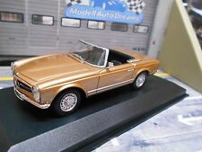 MERCEDES BENZ 230SL SL Pagode Roadster 1965 gold braun Maxi W113 Minichamps 1:43