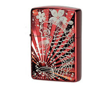 Zippo Rising Carp with Cherry Blossoms RED / koi fish / from JAPAN !