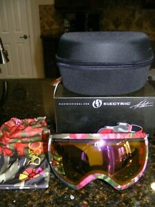 ELECTRIC WOMEN'S FLORAL SNOWBOARD / SKI GOGGLES NEW rose lens – W/ Storage bag a