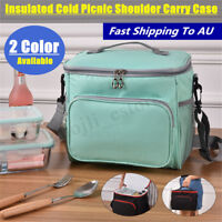 Insulated Thermal Cooler Lunch Box Carry Tote Picnic Case Storage Shoulder