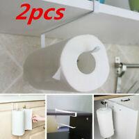 2X Kitchen Roll Holder Paper Toilet Towel Shelf Cabinet Home Storage Rack Hanger
