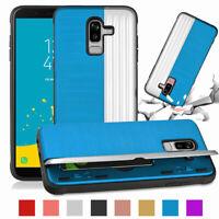 For Samsung Galaxy J2 Pro J4 J6 J8 2018 Case Credit Card Back Holder Stand Cover