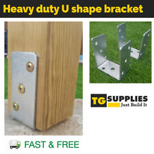 Heavy Duty Galvanised Post Support post bracket Fence Foot post base bolt down
