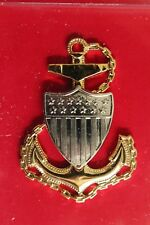 Uscg Us Coast Guard Full Size E-7 Cpo Chief Petty Officer Combination Cap Badge