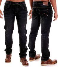 Stonewashed L32 Herren-Jeans mit mittlerer Bundhöhe und regular Länge