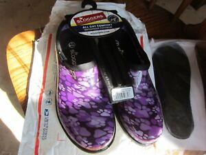 Sloggers PURPLE DOGGY PAWS Waterproof Shoe Women's ~ SIZE 6