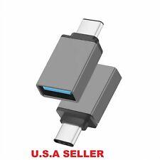 Lot USB C Male to USB A Female Adapter Sync Data Hub OTG Function Samsung LG