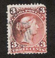 #25  - Canada - 1868  -  3 Cent -  oxidized  -  VG  - superfleas