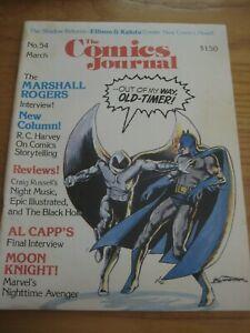 The Comics Journal #54 Bill Sienkiewicz Al Capp Marshall Rogers