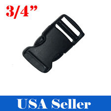 "10X 3/4"" Inch Plastic Black Strap Webbing Side Release Buckle Clasp Craft 2 CM"