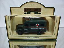 LLEDO DAYS GONE 1950 BEDFORD AMBULANCE MILITARY - ARMY GRREN - GOOD IN BOX