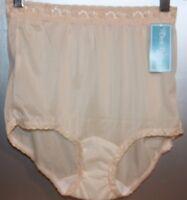 VTG Dixie Belle Lingerie Sz 5 Sheer Panties Mushroom Gusset Nylon Underwear Lace