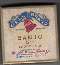 Vintage box with Banjo strings. National Musical String Co. Banjo 5th