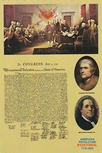 Declaration of Independence United States Postcard unused VGC