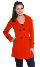 USA Women's Long Parka Coat Lapel Neck Outwear Winter/Autumn Trench Jacket Coats