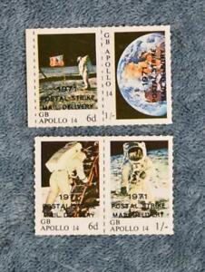 1971 Postal Strike Singles - Apollo 14 - MNH