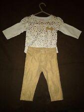 girls garanimals size 6/9 months white and gold