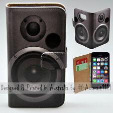 Wallet Phone Case Flip Cover for Apple iPhone 5 / 5S - Subwoofer Speaker
