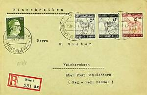 GERMANY 1943 WWII LEADER WIEN AUSTRIA HORSE GRAND PRIX 4v ON REGD COVER