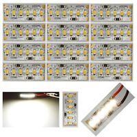 12 Stück LED Warm-Weiß 6 LED´s auf 25x10mm 12-24V z.B. Hausbeleuchtung C2000