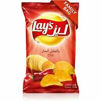 Lays Chili 🌶  potato Chips Family Size Case 170G.