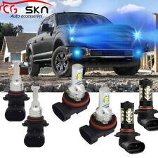 H11 9005 LED Headlight Hi Low Beam+Fog Light 9145 for Ford F-150 2015-2019 8000K