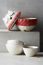New Anthropologie Nesting Owl Measuring Cups NIP Red