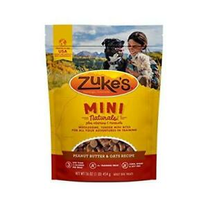 Zuke's Mini Naturals Training Dog Treats Peanut Butter and Oats Recipe - 16 Oz.